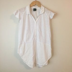 Anthropologie Left of Center Lila Tunic Top Shirt